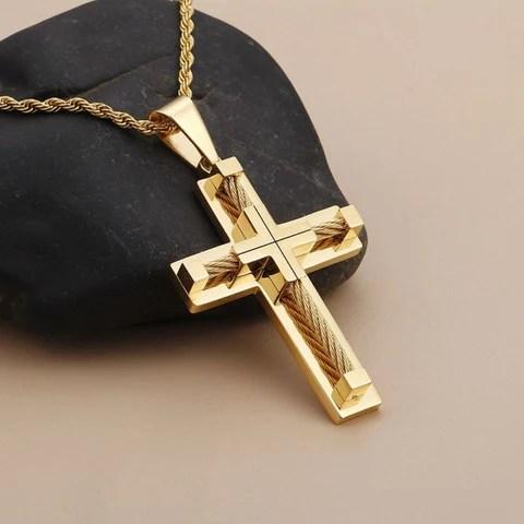 Corrente com Crucifixo Banhado a Ouro – Genial Ofertas