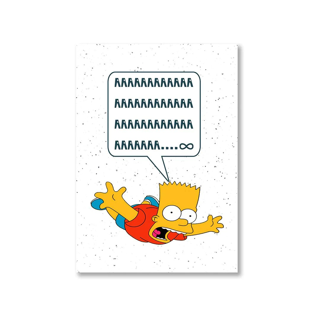 the simpsons poster bart simpson