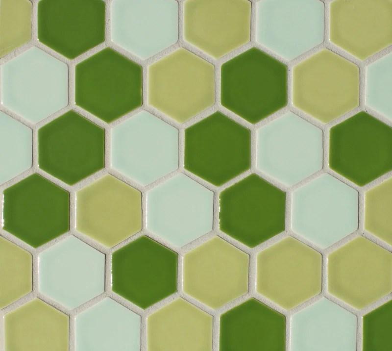 clayhaus ceramic mosaic tile 2 hexagon modwalls modern tile