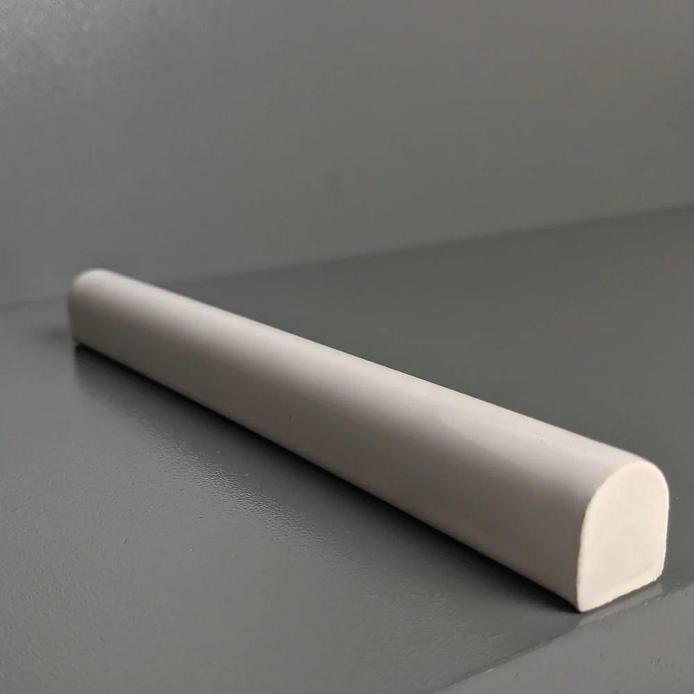kiln ceramic half round trim tile 105 colors
