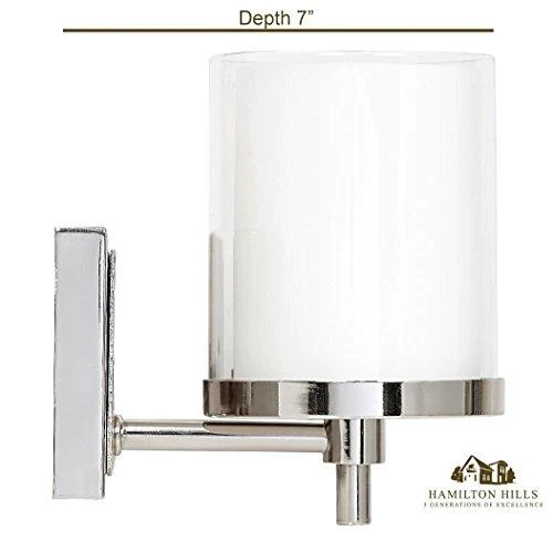 triple frosted and clear glass wall sconce polished nickel led fixtu you buy i ship