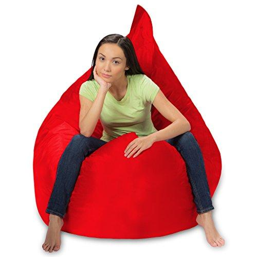 huge bean bag pillow for playing video games watching tv red
