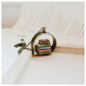 Stack of Books Hollow Pendant
