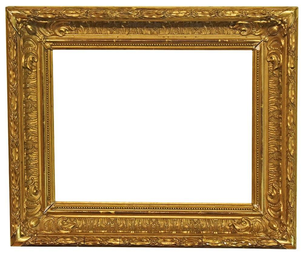 10x13 Antique Frame Small Gold Period 1800s 19th Century Victo Asheville Finds