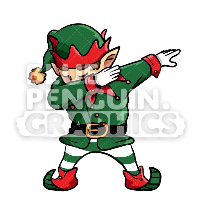 christmas elf dabbing christmas