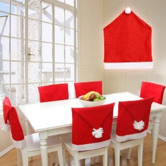 Santa Chair Covers Sets Bistro Table Chairs 2 Christmas Hat Back Cover Claus Red Load Image Into Gallery Viewer