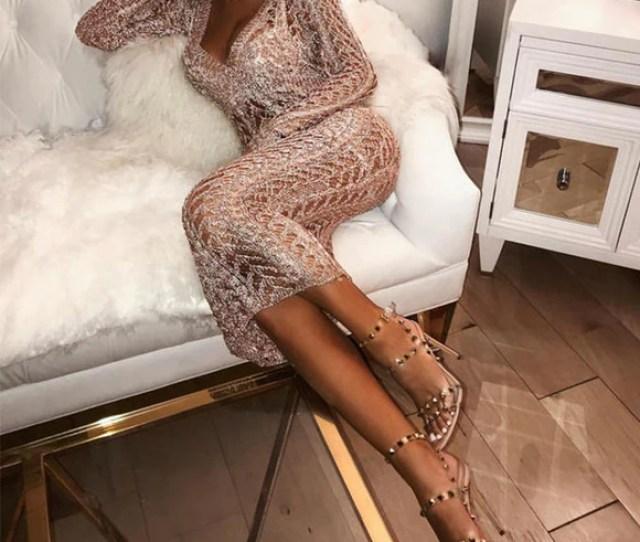 Transparent Women Backless Dress
