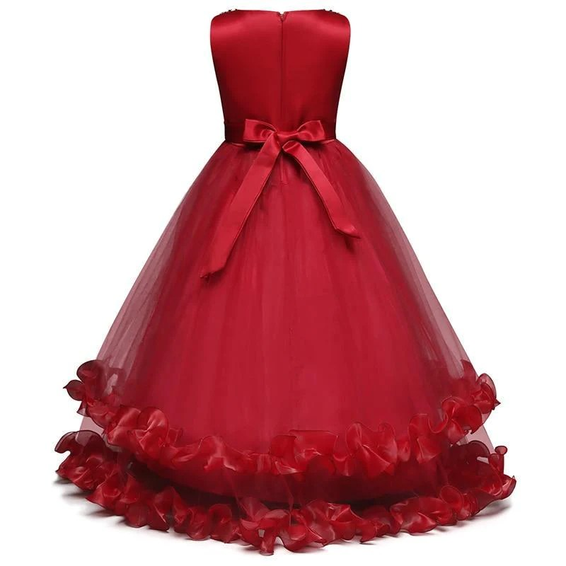 embroidery layered ball gown