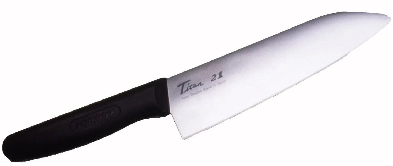 titanium kitchen knives decorative chalkboard for polished knife 180mm homefix japan