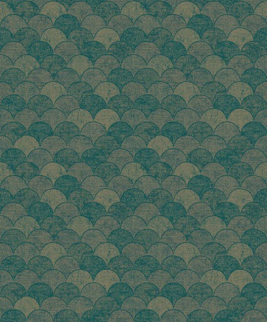 Y6230204 Mermaid Scales Wallpaper Antonina Vella Teal Gold Us Wall Decor