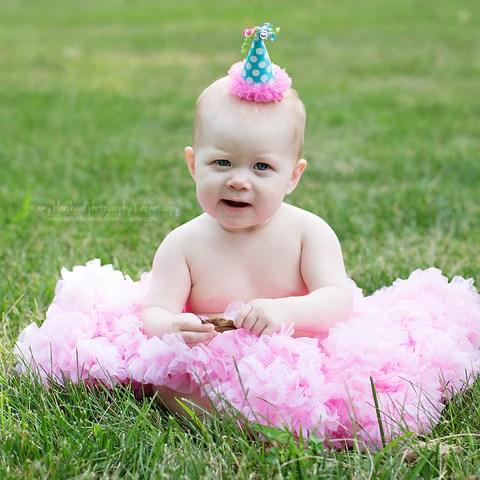 happy birthday hair clip baby