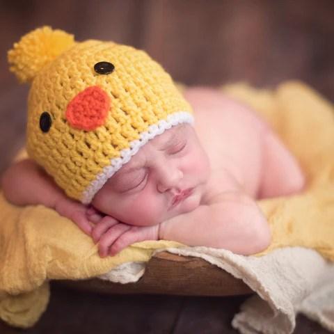 spring chicken baby hat