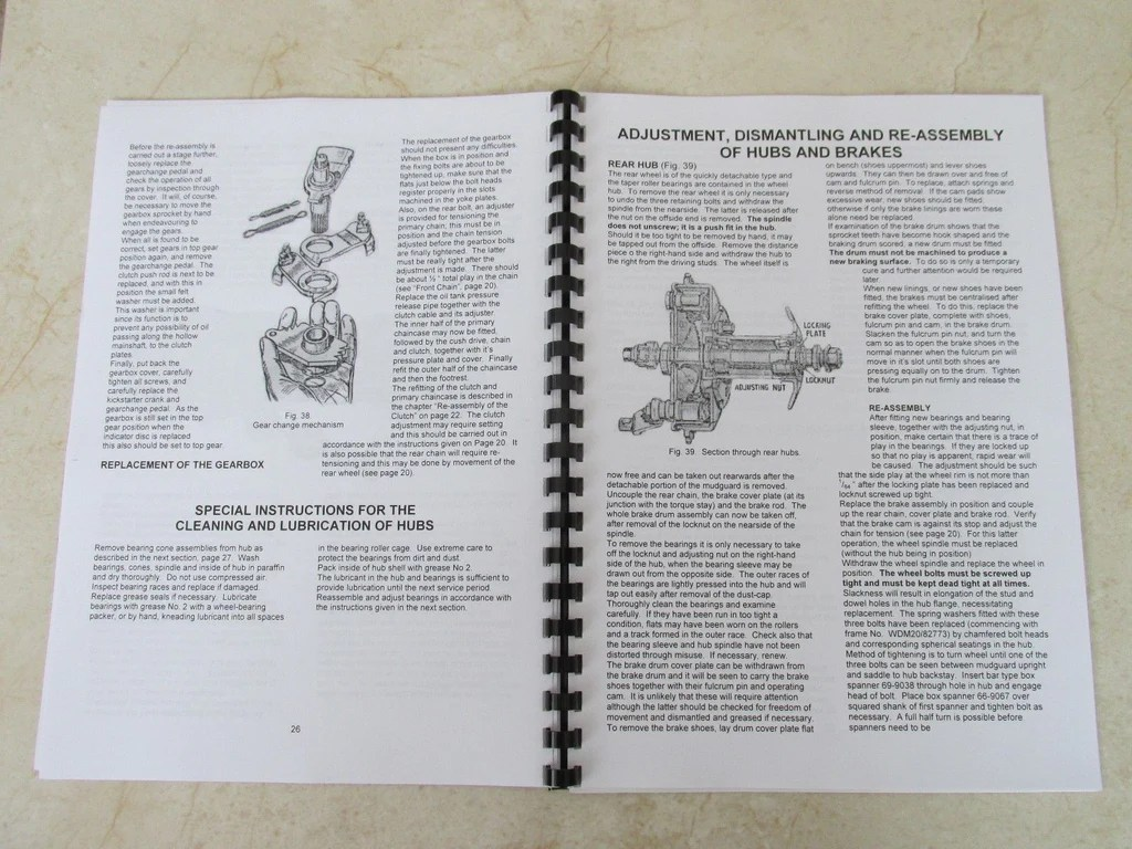 medium resolution of bsa m20 manual wd m20 owners workshop maintenance manual