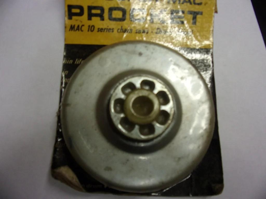 medium resolution of mcculloch clutch rim sprocket drum 65370 new 7t fits mcculloch pro mac 10 10 chainsaw