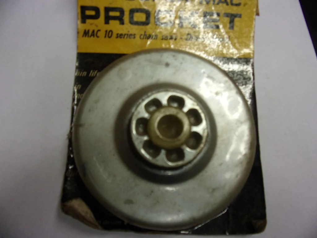 hight resolution of mcculloch clutch rim sprocket drum 65370 new 7t fits mcculloch pro mac 10 10 chainsaw