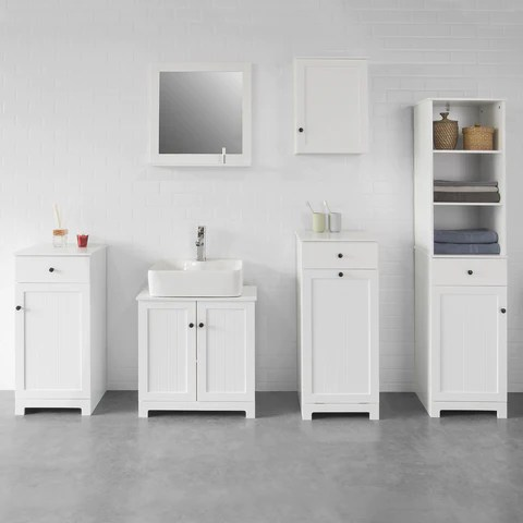 Sobuy Bathroom Linen Cabinet With Drawer And Dirty Laundry Basket W40 D38 H90cm White Bzr21 W