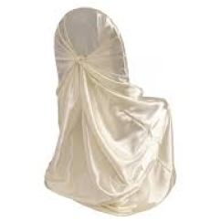 Chair Covers Ivory White Desk Universal Satin At Affordable Rate 1 45 Simply Cover