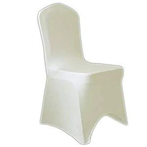 cream chair covers for weddings steel with pad ivory spandex give modern touch to your wedding simply elegant and more