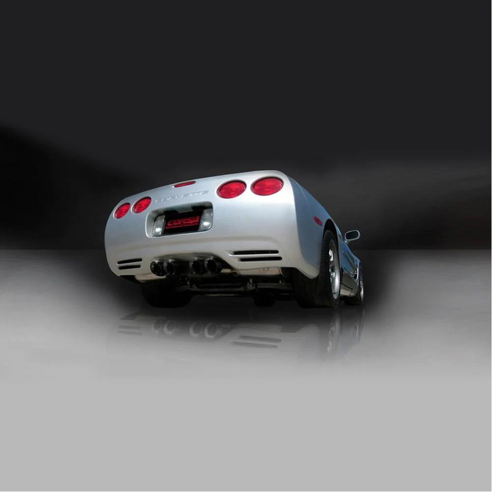 corvette exhaust system corsa indy