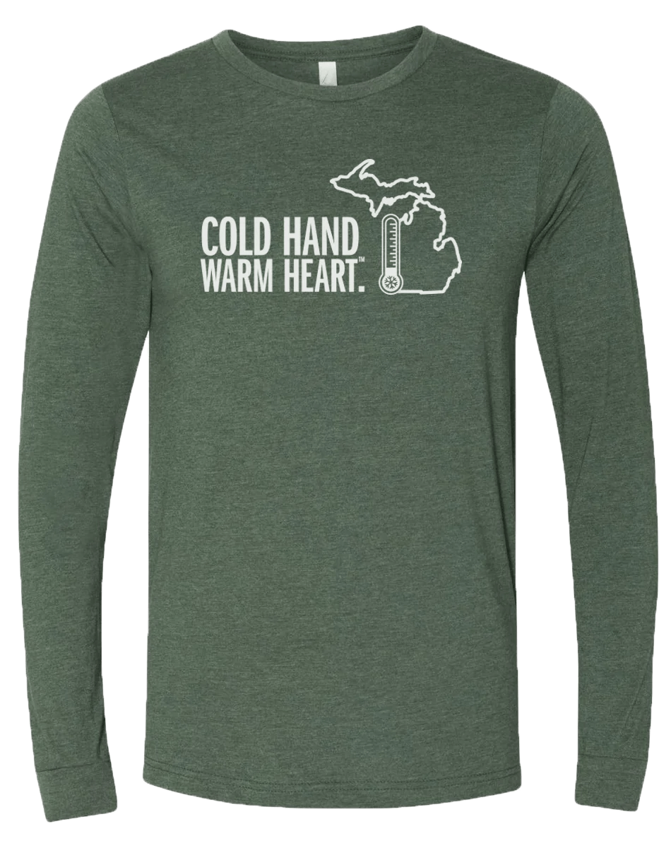 Cold Hand Warm Heart Long Sleeve T-shirt Michigan Awesome
