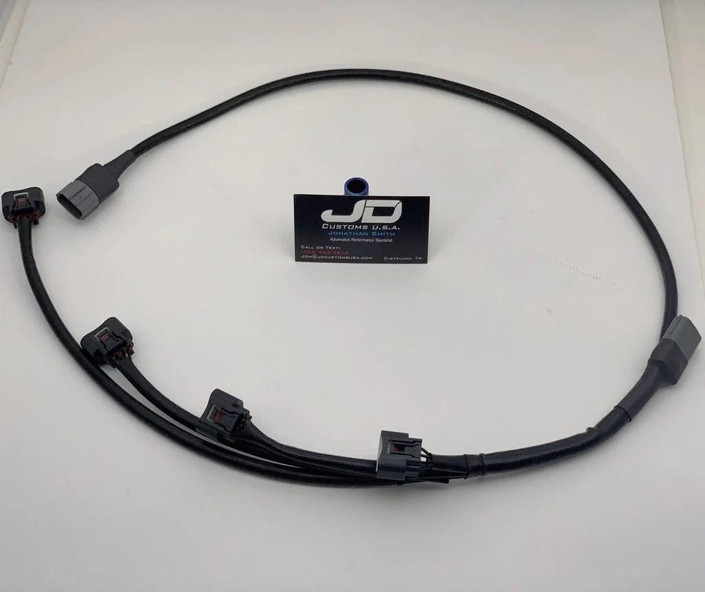 medium resolution of jdc hideaway coil on plug wire harness mitsubishi evo 4 9