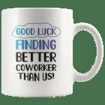 Funny Novelty Good Luck Coffee Mugs Boss Leaving Gift Panvola