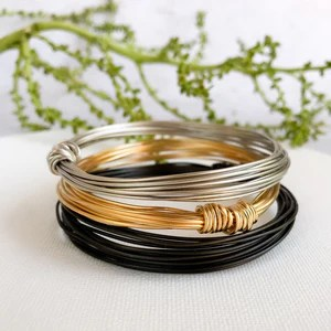 Bundle of 3 essential wire bracelets