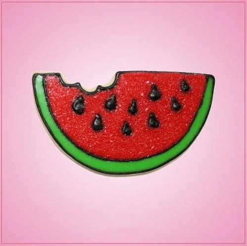Pink Watermelon Slice With Bite Cookie Cutter  Cheap Cookie Cutters