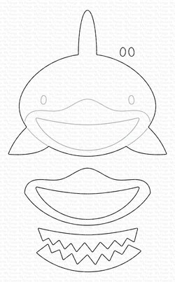 Black And White Baby Shark : black, white, shark, Shark, Die-namics, Stamps
