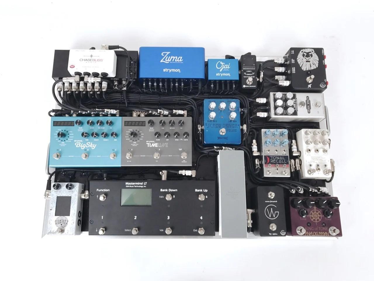small resolution of  custom pedalboard wiring setup