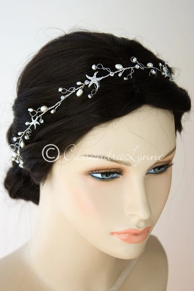Beach Wedding Hair Forehead Headband Wrap With Starfish
