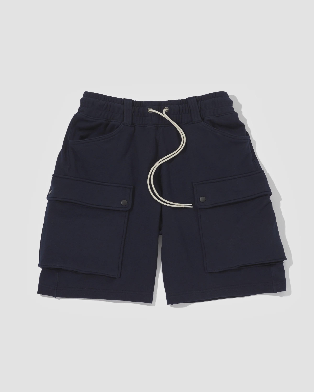 Knitted Shorts - Navy – LAKH supply