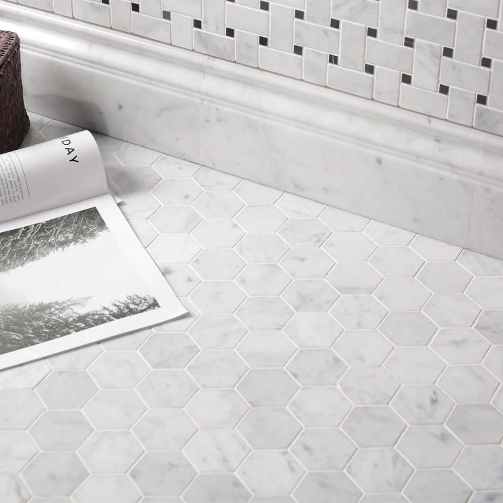marble 2 inch hexagon mosaic tile
