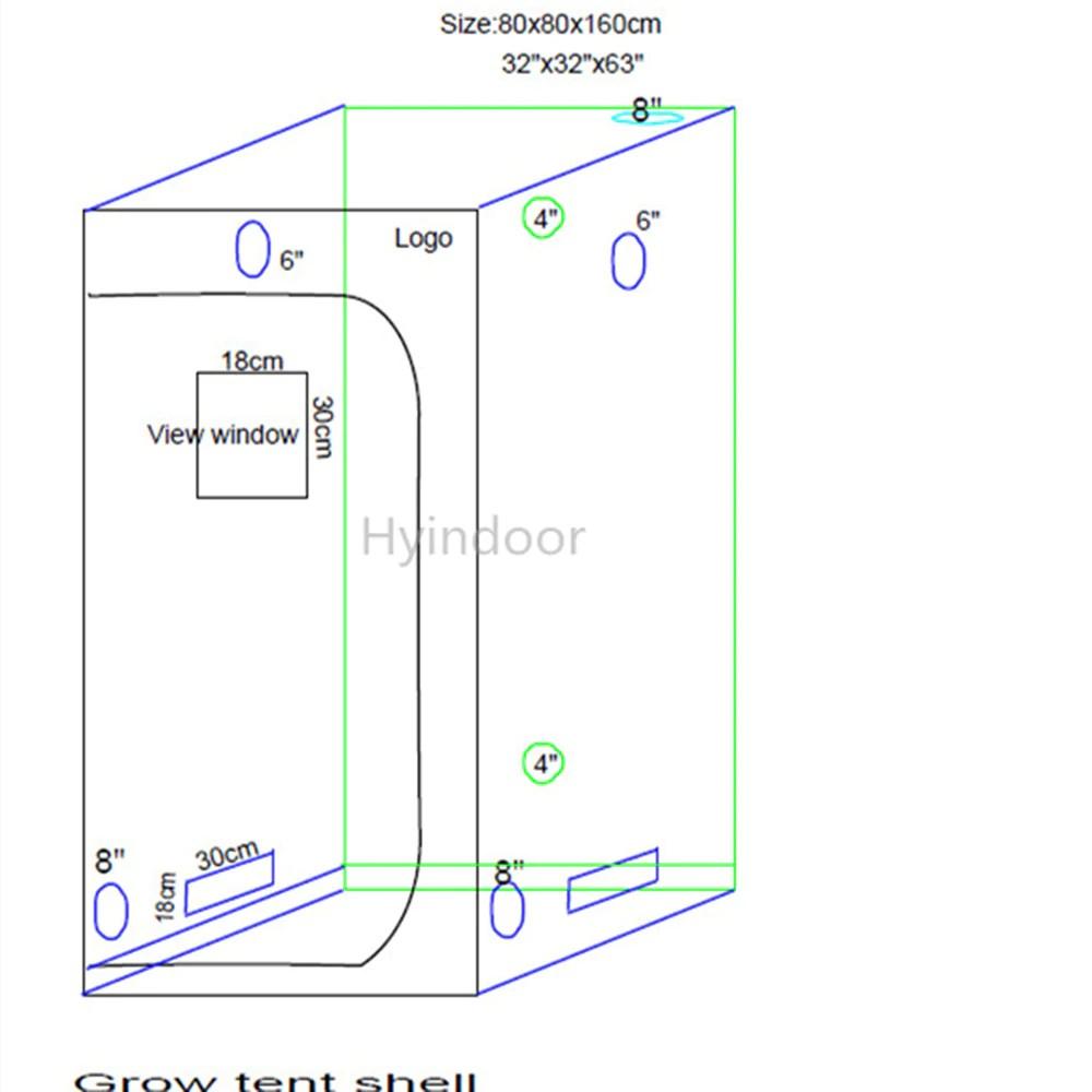 hight resolution of grow tent 80 80 160cm garden supplies hydroponics grow room indoor greenhouse 32