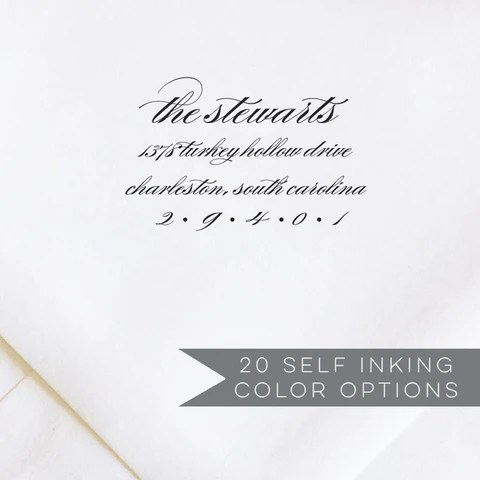 address stamps self inking