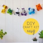 Felt Animal Garland Sewing Kit Diy Nursery Decor Felttails