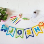 Felt Baby Name Garland Felttails