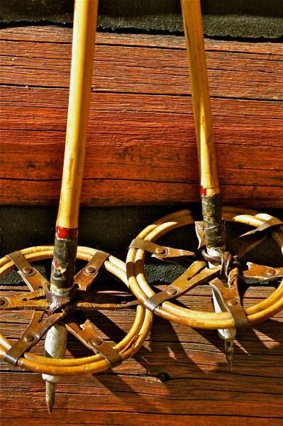 Vintage Bamboo Ski Poles  VintageWinter