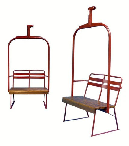 ski chair lift small slipcovers chairlift vintagewinter