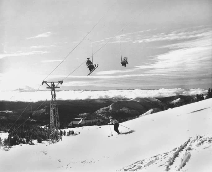 ski chair lift french provincial and ottoman vintage mt hood magic mile vintagewinter