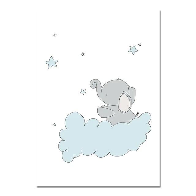 elephant nursery wall prints