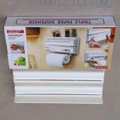 3 In 1 Kitchen Storage Rack Triple Paper Dispenser Best Price Pakistan Holder Foil Cling Wrap