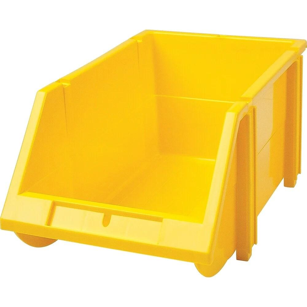 bacs en plastique empilables cb263 jaune