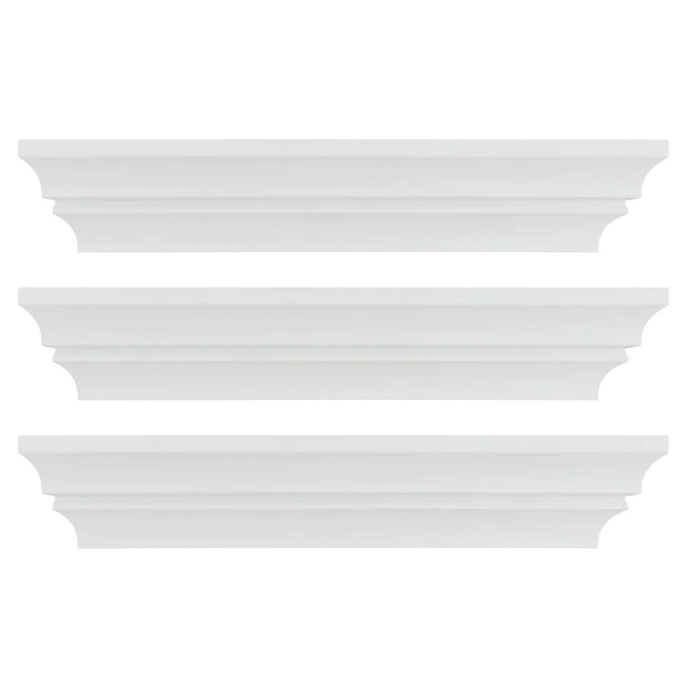 kiera grace corniche tablette murale profilee madison 16 po blanc 3 ensemble fn00284 6mc