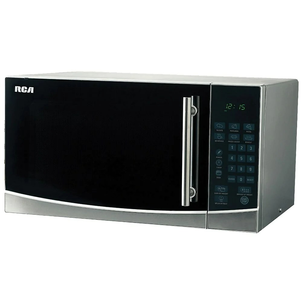 rca 1 1 cubic ft stainless steel design microwave