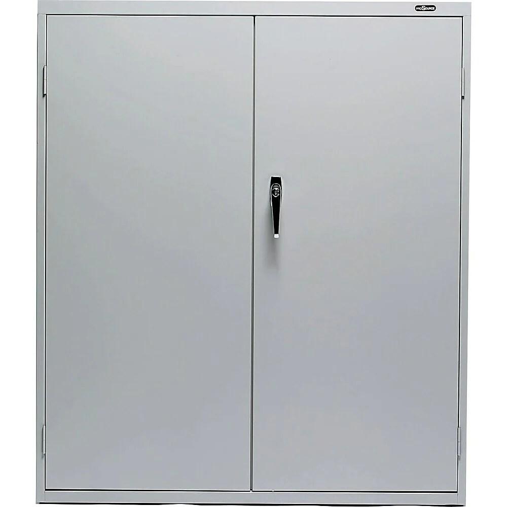 prosource armoire de rangement verrouillable en acier 42 po gris