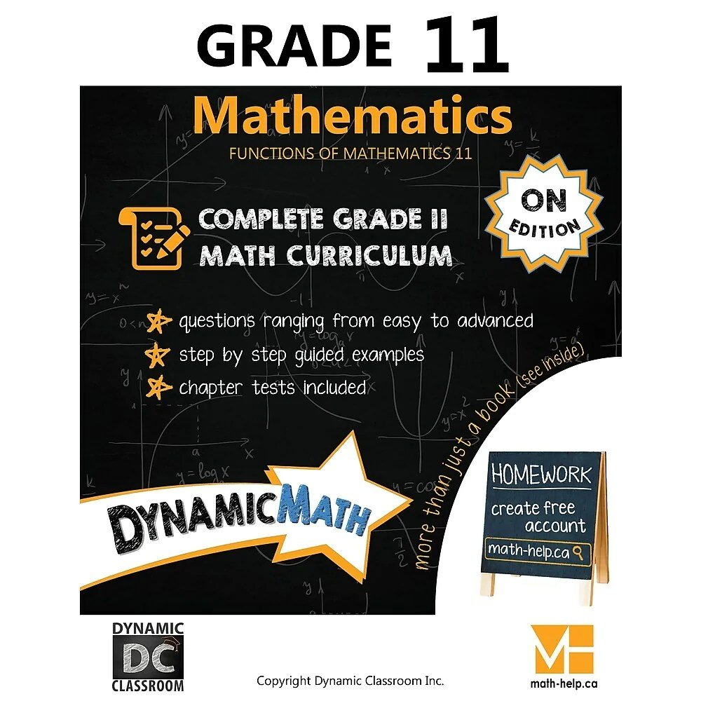 hight resolution of Dynamic Math Workbook Ontario - Grade 11   staples.ca