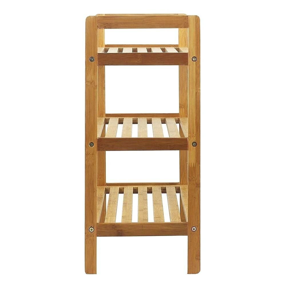 oceanstar 3 tier bamboo shoe rack natural 3sr1651
