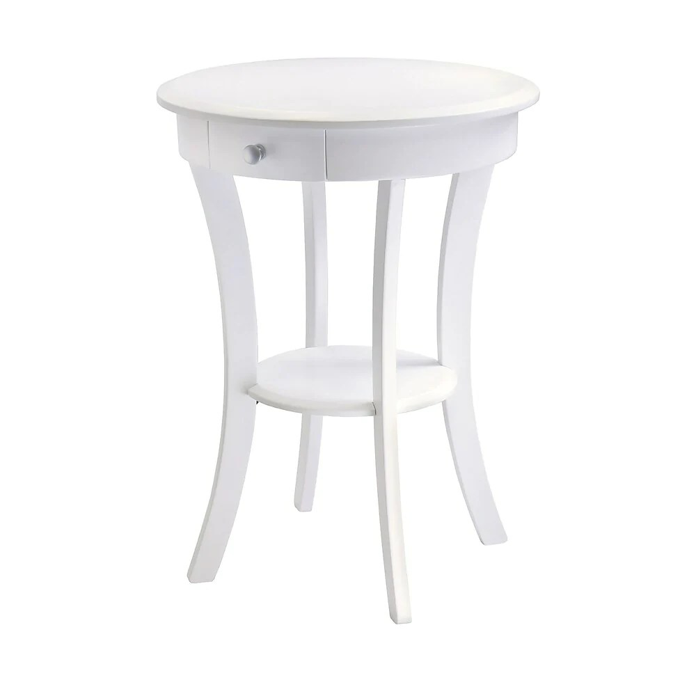 winsome table d appoint sasha ronde blanc