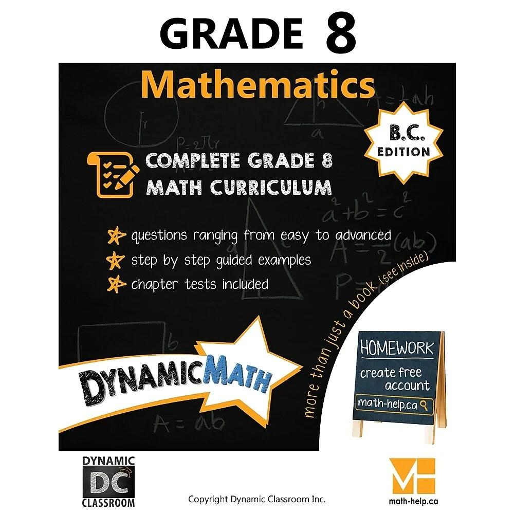 hight resolution of Dynamic Math Workbook BC - Grade 8   staples.ca